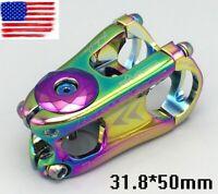 Aluminum bar Stems 28.6*31.8*50mm 0° MTB Road Bike short Stem Top cap Expander