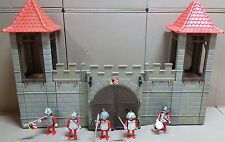 Playmobil murallas edad media castillo ritterburg + plata caballero #947