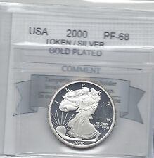 **2000** USA, Silver / Gold Plated Medallion