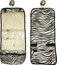Hanging Travel Cosmetic Bag (zebra pattern) great for travel or home!