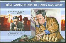 GUINEA 2013 50TH BIRTH ANNIVERSARY GARRY KASPAROV CHESS MASTER SOUVENIR SHEET