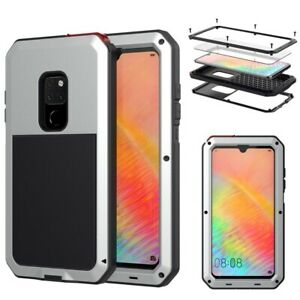 Heavy Duty Protection armor Metal phone Case for Huawei Mate 20 Pro P30 Pro