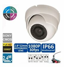 HD CVI 1080P Dome Camera 2.4MP  Motorized Zoom Auto 2.8-12mm, 36 IR LED @ 98ft,
