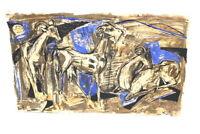 Hans Richter HR 56 Expressionist Gemälde Mischtechnik