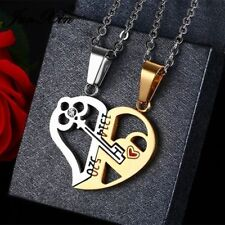 Pendant Necklace Stainless Steel Heart Couple Accessory Fashion Valentine Gifts