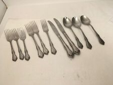 MONTCLAIR Floral Tip Glossy Stainless Oneida Wm Rogers Several Pieces