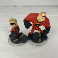 Disney Infinity 2pc Lot Game Figures Incredibles Dash and Mr Incredible