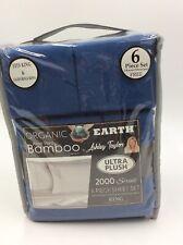 Organic Earth Aloe Vera Bamboo 6 Piece Sheet Set (KING, BLUE) by Ashley Taylor