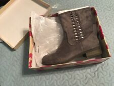Jody Gray Suede DOLCE by mojo moxy Pull On Boots - Size 7.5M - NEW