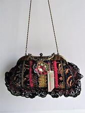 Bee Generation Gorgeous New Multi-Color Tapestry & Lace Embellished Med Handbag