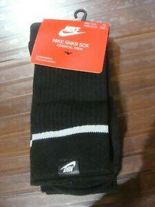 Men's Nike SNKR SOX Essential Crew 2 Pack SX7166 010 Size L (8~12)