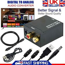 Digital to Analogue Audio Converter Optical Coaxial Toslink RCA LR Sound Adapter