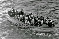 1912 RMS TITANIC LIFEBOAT SURVIVORS 8X10 PHOTO WHITE STAR LINE SHIP OCEAN LINER