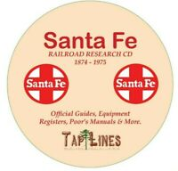 SANTA FE RAILROAD AT&SF OFFICIAL GUIDES,  EQUIPMENT REGISTERS & RESEARCH ON DVD