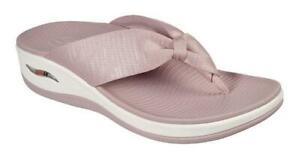 SKECHERS Women's Comfy Arch Fit Thong Flip Flop Sandals in 5 Colors