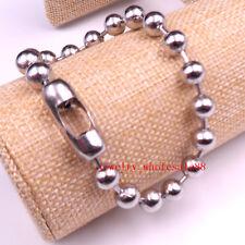 Lot 5pcs in bulk Stainless Steel Huge Ball Link chain Bracelet Bangle 6mm 8.26''