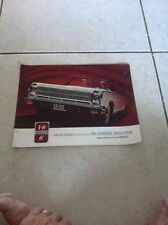 OEM FACTORY SALES BROCHURE LITERATURE 1965 AMC RAMBLER AMBASSADOR ALL MODELS