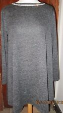 LIPSTICK COLLECTION GREY WITH DIAMANTE TRIM DRESS - SIZE M/L - NEW WITH TAGS