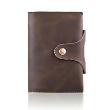 Crazy Horse Leather Journal Handmade Writing Notebook A7 Daily Notepad Small