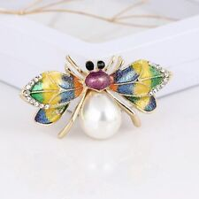 Lapel Pin Fashion Jewelry Gifts Women Brooch Elegant Rhinestone Spider Insect
