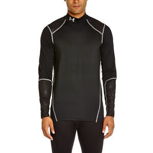 Under Armour UA ColdGear Black Mens CGI Evo Mock Long Sleeved Fitted Top L