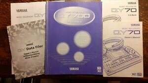 QY700 music sequencer owners manual with List Book and data filer