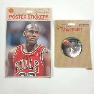 Micheal Jordan Vintage Magnet And Poster Stickers Jump Inc New