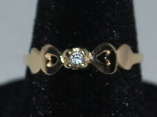 10k Gold ring with a CZ and a beautiful design