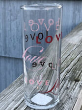 LOVE DRINKING GLASS BY ANCHOR HOCKING COMPANY  STILL HAS ITS STICKER