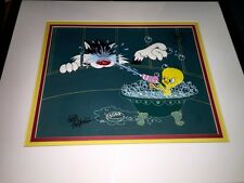 "Warner Brothers Cel ""THE SQURIT"" Tweety Bird Sylvester The Cat Rare Edition cell"