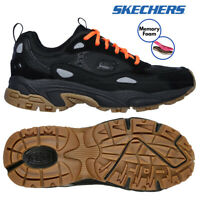Skechers Mens Stamina Contic Trainers Athletic Leather Memory Foam Sport Shoes
