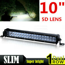 10inch 180W Slim LED Light Bar Dual Row Spot Work Boat SUV Offroad Truck 4WD ATV