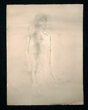 "India WC Wash Abstract Painting ""Female Nude"" by Kaiko Moti (1921-1989) (NoN)"