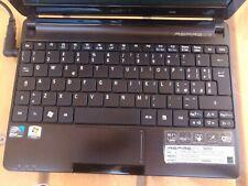"Acer aspire one D257 netbook notebook portatile ssd 120gb  1gb ram 10"" win 10"