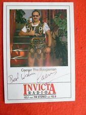 Caesar the Boogieman HAND SIGNED INVICTA  RADIO FAN CARD UK