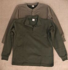 Lot Of 2 Browning X-Static Henley 1/4 Zip Sweater Polyester Blend Sz L GREAT #G1