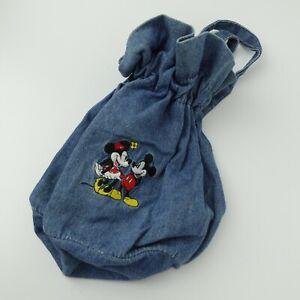 Mickey & Minnie Mouse Blue Denim Kid's Backpack Bag