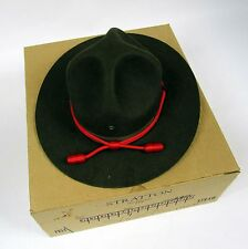 Texas A&M Corps Stratton Brown Dress Trooper Hat Felt Campaign 7.25 Self Forming