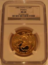 China 1985 Gold 1 oz 100 Yuan Panda NGC MS-68
