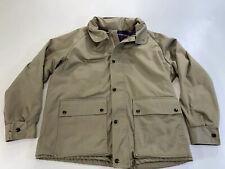 Vintage Zero King Tan Flannel Lined Hooded Jacket Coat Men's 42 Size Large