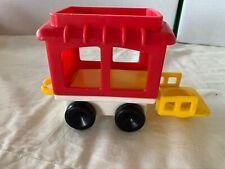 Vintage 1991 Fisher-Price Little People Circus Train Caboose Red Car #2373