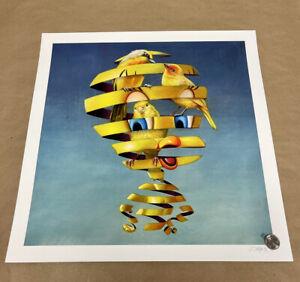 "Super A Stefan Thelen ""Birds"" Trapped Series Tweety Street Art Print Poster"