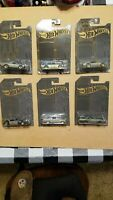 Hot Wheels' 51st Anniversary Black on Chrome Muscle car set! w VHTF Superbird!