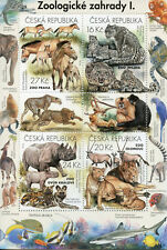Czech Republic 2016 MNH Zoos 4v M/S Rhinos Lions Horses Wild Dogs Monkeys Stamps