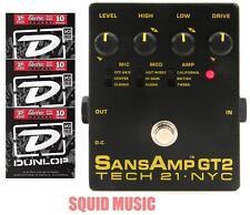 Tech 21 NYC Sansamp GT2 Preamp Stomp Box Record Direct Analog ( 3 STRING SETS)