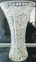Antico Vaso Cristallo molato lavorato  vintage crystal italian's vase