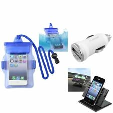 Blue Waterproof Bag Case+Charger+Car Holder For iPod Touch 1 2 3 5 5th Gen 5G