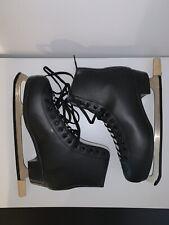 American Athletic Mens Style 554 Figure Skates Black Size 12