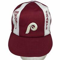 VINTAGE Philadelphia Phillies MLB 1980 World Champs Mesh Snapback Trucker Hat
