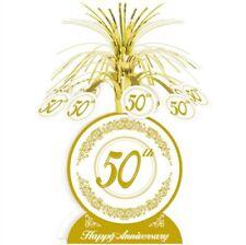50th Anniversary Centerpiece Gold Anniversary Party Supplies Decoration